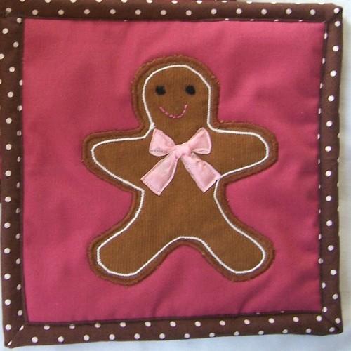 gingerbread man potholder