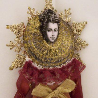 17th century angel art doll ornament