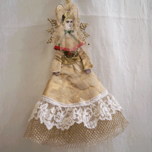 15th cnetury lady angel ornament
