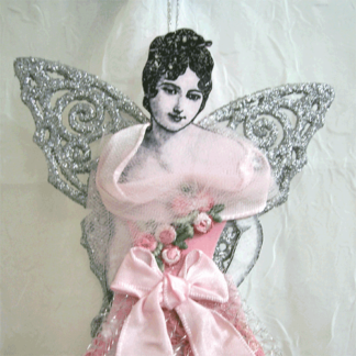 victorian lady angel ornament