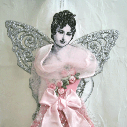victorian lady angel ornament