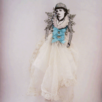 victorian angel ornament doll
