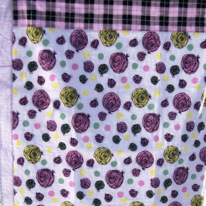 pink roses quilt blanket