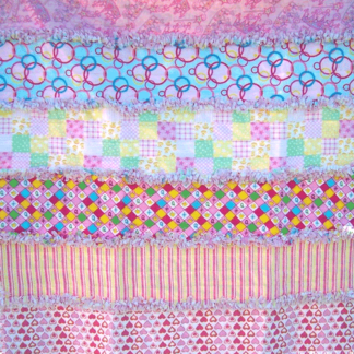 flannel rag quilt for baby girl