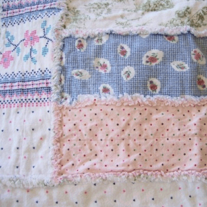 Shabby Chic Flannel Rag Quilt