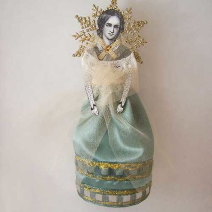 charlotte bronte art doll ornament