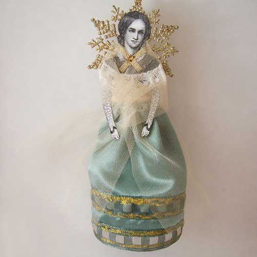 charlotte bronte art doll ornament