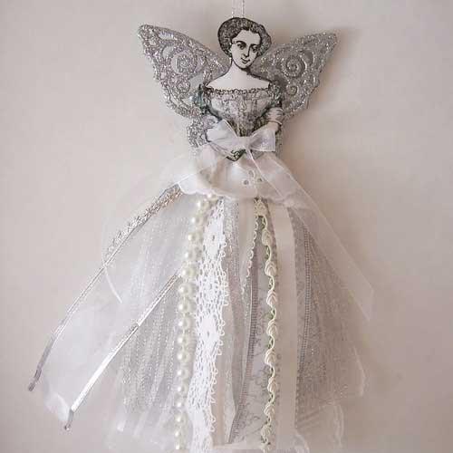 victorian christmas angel ornament