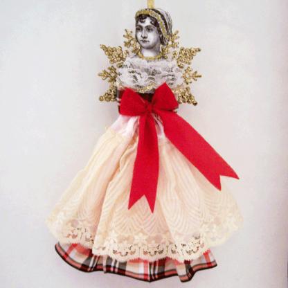 jane austen angel doll ornament